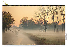 Foggy Fall Morning On Gary Avenue Carry-all Pouch