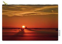 Foggy Farmlands Sunrise Carry-all Pouch