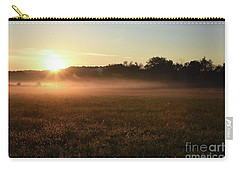 Foggy Field At Sunrise Carry-all Pouch