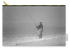 Foggy Fisherman In Bw Carry-all Pouch