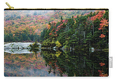 Carry-all Pouch featuring the photograph Foggy Foliage Morning Kinsman Notch by Jeff Folger