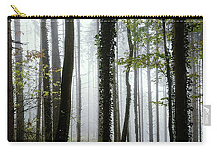 Carry-all Pouch featuring the photograph Foggy Forest by Chevy Fleet