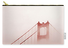 Carry-all Pouch featuring the photograph Foggy Golden Gate by Art Block Collections