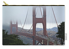 Foggy Golden Gate Carry-all Pouch by Margaret Brooks