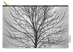 Foggy Lone Tree Hill Fine Art Carry-all Pouch