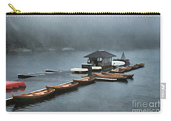 Foggy Morning At The Lake  Carry-all Pouch by Judy Palkimas