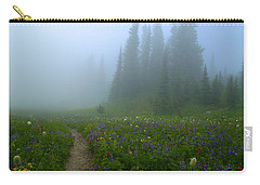 Carry-all Pouch featuring the photograph Foggy Morning At Tipsoo by Lynn Hopwood