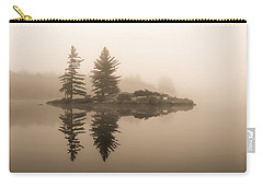 Foggy Morning Caution Carry-all Pouch