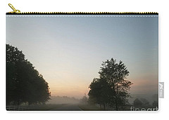 Carry-all Pouch featuring the photograph Foggy Morning In May by Maria Urso