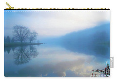 Foggy Morning Lake Sunrise II Carry-all Pouch by Randy Steele