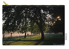 Carry-all Pouch featuring the photograph Foggy Morning by Mark McReynolds