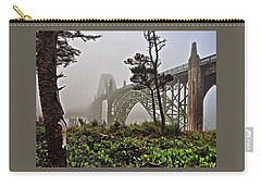 A Foggy Morning On Yaquina Bay Carry-all Pouch