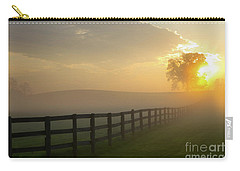 Foggy Pasture Sunrise Carry-all Pouch