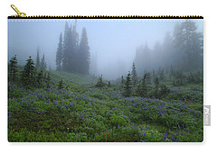 Carry-all Pouch featuring the photograph Foggy Skyline Trail At Mount Rainier by Lynn Hopwood