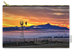 Foggy Spearfish Sunrise Carry-all Pouch by Fiskr Larsen