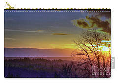 Foggy Sunset Carry-all Pouch by Victor K