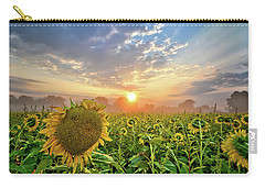 Foggy Yellow Fields Carry-all Pouch