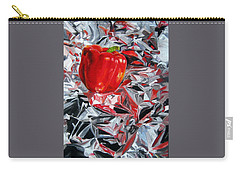 Carry-all Pouch featuring the painting Foil Reflections by LaVonne Hand