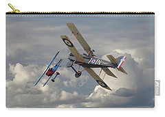 Carry-all Pouch featuring the digital art Fokker Dvll And Se5 Head To Head by Pat Speirs