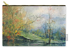 Foliage Flames On The River Carry-all Pouch