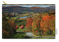 Foliage View Of Connecticut River From Piermont New Hampshire Carry-all Pouch