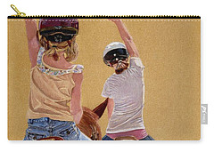 Follow The Leader - Horseback Riding Lesson Painting Carry-all Pouch