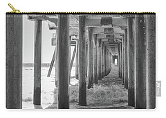 Carry-all Pouch featuring the photograph Follow The Lines Under Huntington Beach Pier by Ana V Ramirez