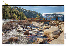 Carry-all Pouch featuring the photograph Following The Falls by Charles Garcia