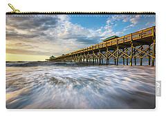 Folly Beach Sc Pier Charleston South Carolina Seascape Carry-all Pouch