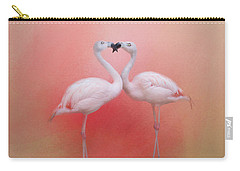Fond Flamingos Carry-all Pouch