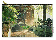 Fontaine De Medicis Carry-all Pouch by Kathy Bassett