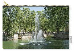 Carry-all Pouch featuring the photograph Fontaine De Nimes by Scott Carruthers