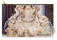 Fontana Del Pantheon - Pantheon Fountain II Carry-all Pouch by Melanie Alexandra Price