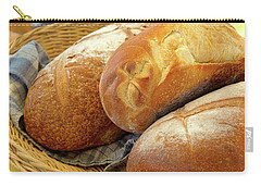 Carry-all Pouch featuring the photograph Food - Bread - Just Loafing Around by Mike Savad