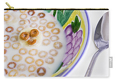 Food, Breakfast Cereal Smile Carry-all Pouch by Betty Denise