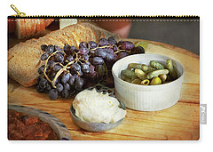 Carry-all Pouch featuring the photograph Food - Fruit - Gherkins And Grapes by Mike Savad