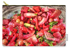 Carry-all Pouch featuring the pyrography Food Salad Tomatoes by Yury Bashkin