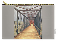 Foot Bridge Over Tracks Carry-all Pouch by Janette Boyd