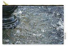 Carry-all Pouch featuring the photograph Foot Of The Fountain by Richard Ricci