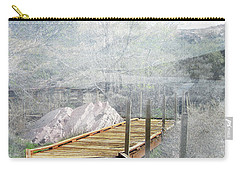 Footbridge In The Clouds Carry-all Pouch by Deborah Nakano