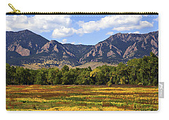Carry-all Pouch featuring the photograph Foothills Of Colorado by Marilyn Hunt