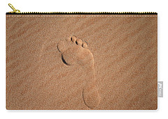Carry-all Pouch featuring the photograph Footprint In The Sand by Keiran Lusk