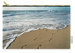 Footprints In The Sand Delray Beach Florida Carry-all Pouch
