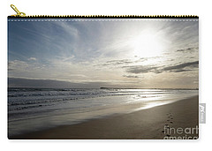 Carry-all Pouch featuring the photograph Footprints In The Sand by Linda Lees