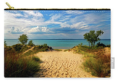 Carry-all Pouch featuring the painting Footprints In The Sand P D P by David Dehner