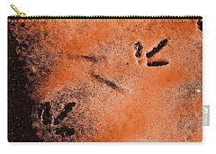 Carry-all Pouch featuring the photograph Footprints In The Snow by Richard Ricci