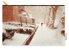 Carry-all Pouch featuring the photograph The Red Umbrella by Jessica Jenney