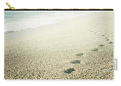 Footprints On The Beach Carry-all Pouch