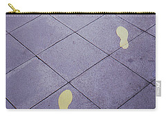 Footsteps On The Street Carry-all Pouch