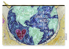 For He So Loved The World Carry-all Pouch by Kirsten Reed